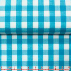 MorCouture Gingham High Collar Shirt -Turquoise