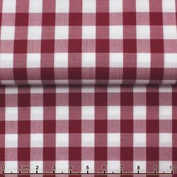 MorCouture Gingham High Collar Shirt -Wine