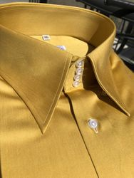 MorCouture Gold High Collar Shirt