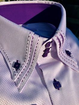 MorCouture Lavender Woven Stitch Shirt