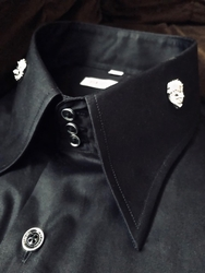 MorCouture Limited Edition Black Silver Lion Head Shirt.