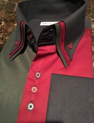 MorCouture Multi Color Triple Collar Shirt -custom order