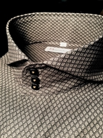 MorCouture Olive Pattern Cutaway Collar Shirt L(16 - 16.5)