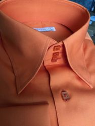 MorCouture Orange High Collar Shirt