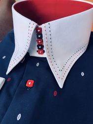 MorCouture Patriot Centipede High Collar Shirt