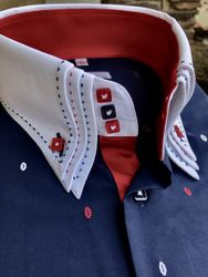 MorCouture Limited Edition Patriot Triple Collar Shirt
