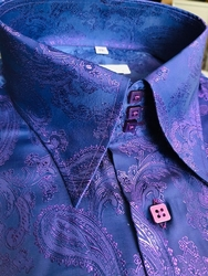 MorCouture Purple Paisley Shirt