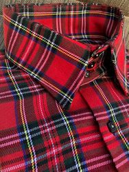MorCouture Red Plaid Shirt