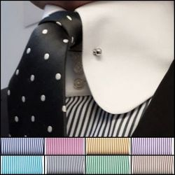 MorCouture Rounded Tie Pin  Collar -Custom order