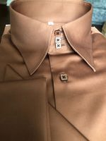 MorCouture Sand Brown Shirt w/Hanky XL(17 - 17.5)