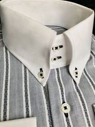 MorCouture Shaded Button Down Shirt
