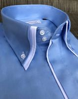 MorCouture Sky Blue White Trim Shirt (other colors)