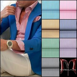 MorCouture Stripe Shirt w/Matching Hanky