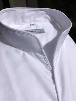 MorCouture White Band Collar Shirt