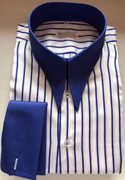 MorCouture White Blue Stripe Angel Wing Shirt(other color options)
