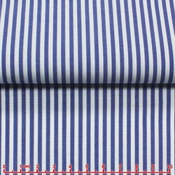 MorCouture White Blue Stripe High Collar Shirt