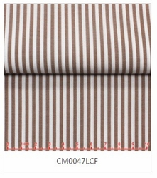 MorCouture White Brown Stripe High Collar Shirt