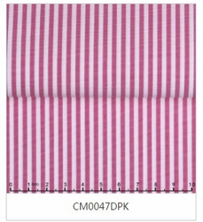MorCouture White Dark Pink Stripe High Collar Shirt