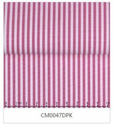 MorCouture White Dark Pink Stripe Border Strip High Collar Shirt