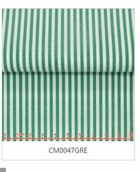 MorCouture White Green Stripe High Collar Shirt