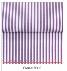 MorCouture White Purple Stripe High Collar Shirt