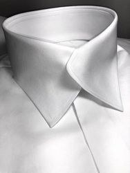 MorCouture White Swerve Collar Shirt