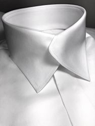 MorCouture White Swerve Collar(Hidden placket/hidden buttons)