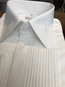 MorCouture White Vented Front Shirt -Custom Order