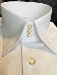 MorCouture White High Collar Deluxe Shirt