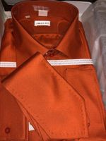 Angelino Dark Orange Shirt/Tie Set 18.5 slim fit