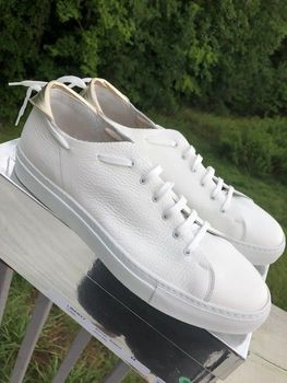 Passion Blanche White Leather Sneakers  size11 (44)