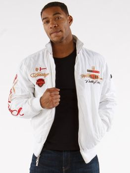 Pelle Pelle Lightweight White Embroidered Jacket
