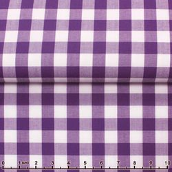 Purple Gingham Spread Collar Shirt -Special order