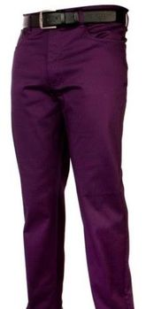 Purple Straight Leg Denim Jeans