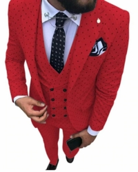 Red Dot 3 pc Suit