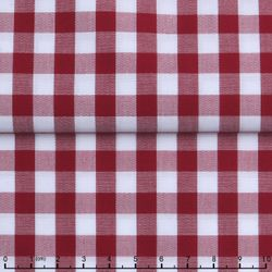Red Gingham Spread Collar Shirt -Special order