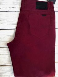Red Wine Straight Leg Jeans