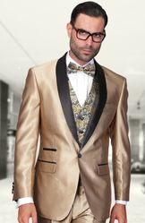 Tan Shawl Lapel Blazer with/Vest 50L