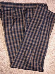 Taupe Black Patterned Pants