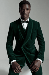 Trimmed Green Shawl Collar 3pc Tuxedo -special order
