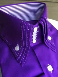 MorCouture Purple WhiteTriple Centipede Shirt-Custom Order