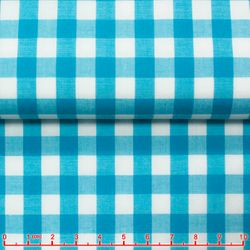 Turquoise Gingham Spread Collar Shirt -Special order