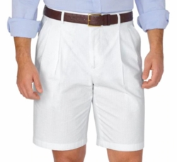 White Seersucker Shorts