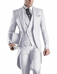 White Tuxedo Tail 4pc Suit