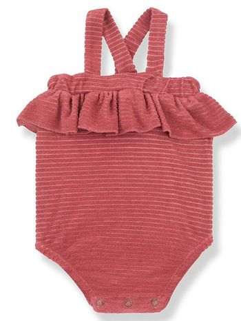 1 + Family in the Family Baby Romper in Rust (Sizes 3Mos to 36Mos)