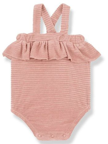 1 + Family in the Family Girly Romper in Rose (Sizes 3Mos to 36Mos)