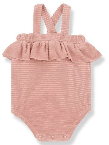 1 + Family in the Family Girly Romper in Rose (Sizes 9Mos,18Mos,24Mos,36Mos)