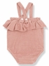 1 + Family in the Family Girly Romper in Rose (Sizes 9Mos,18Mos,24Mos,36Mos) Alternate View