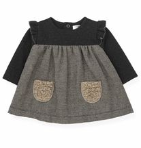 1 + In The Family Black & Beige Dress Milano (9Mos & 48Mos)