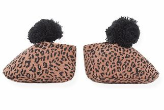 1 + In The Family Infant Leopard Bootie Navy (3Mos & 6Mos)